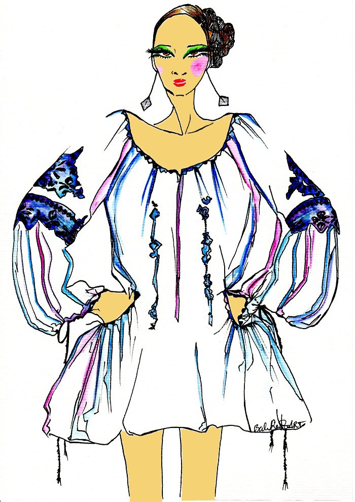 Fashion Illustration & more...: Romanian Blouse .... IE Today