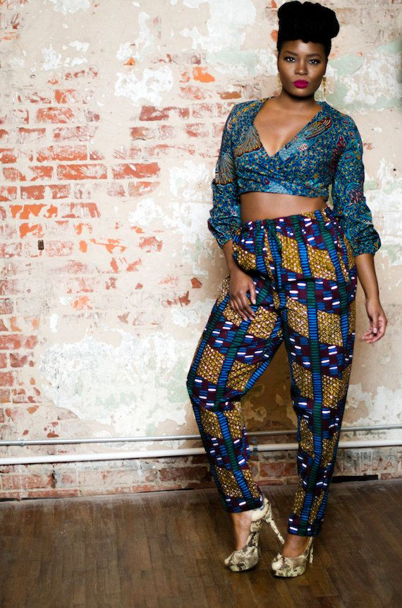 African print pants, drawstring pants, ankara pants with pockets - The Ade Drawstring Pants
