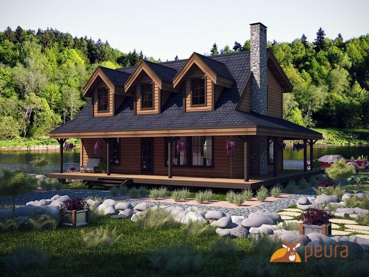 Проект Вестерн - дом для большой семьи в стиле американского ранчо 150-200 м2