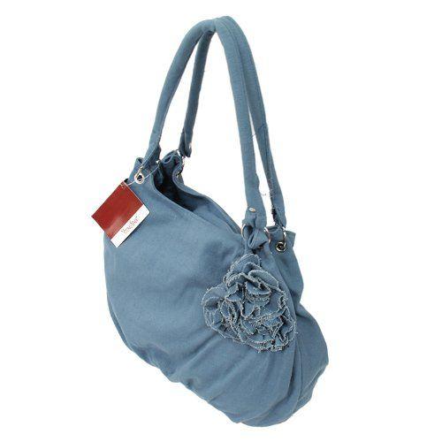Top Henkeltasche Shopper in blau türkis mit Blüte Handtasche Tasche von Young Spirit: Amazon.de: Schuhe & Handtaschen
