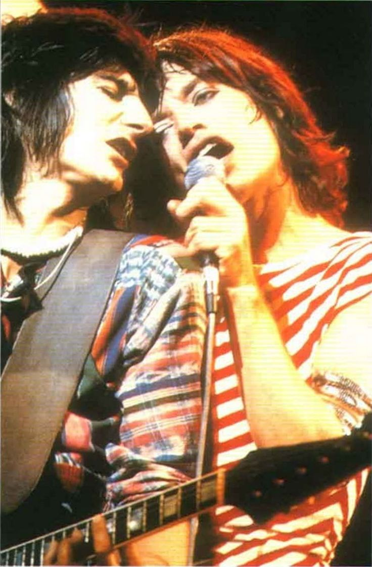 Mick Jagger and Ronnie Wood, 1975