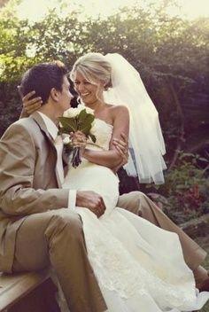 Super cute wedding photo. Happy bride! Wedding photography | bride and groom
