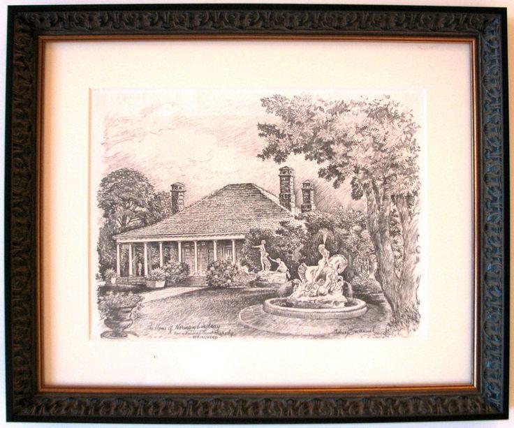 Australian Artist Cedric Emanuel.s print titled  The Home of Norman Lindsay .