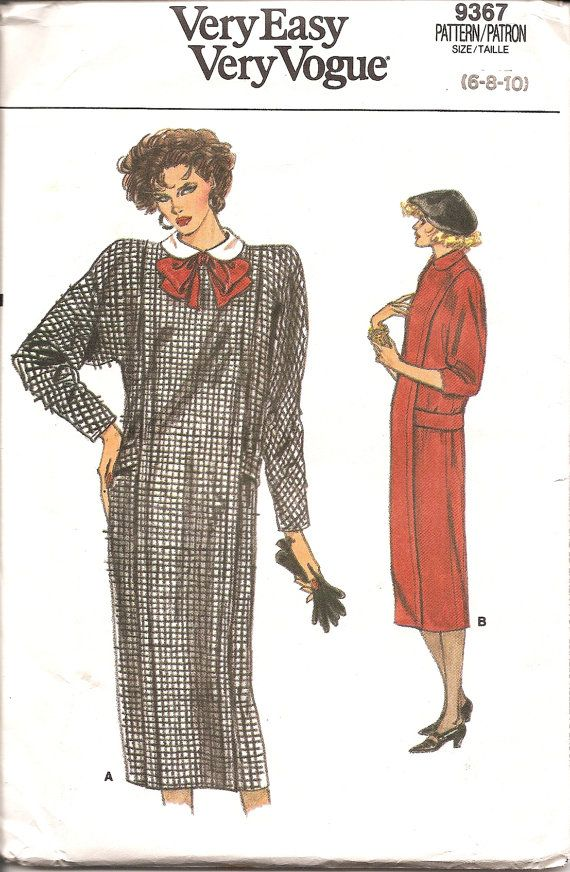 Vogue 1980s Dress Vintage Sewing Pattern 9367 by TenderLane, $8.00