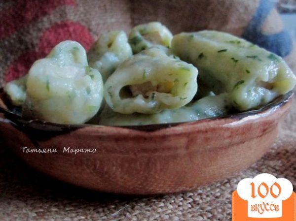 Фото рецепта: «Картофельные клецки с курятиной»