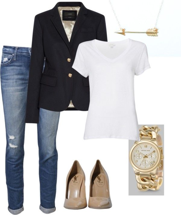 """""""business casual"""" by kjshields on Polyvore (I personally would not consider this business casual but rather an everyday look)"""
