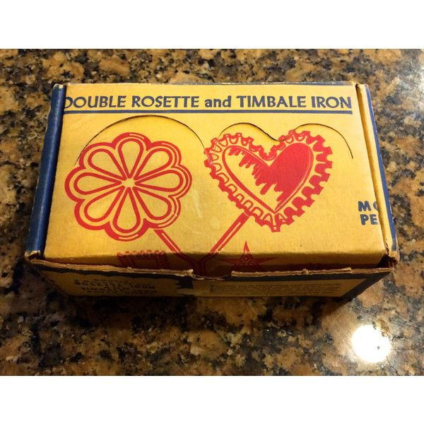 Vintage Kitchen Nordic Ware Double Rosette and Timbale Iron Set #210B... ($14) ❤ liked on Polyvore featuring home, kitchen & dining and nordic ware