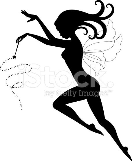 Fairy with magic wand royalty-free vector art illustration