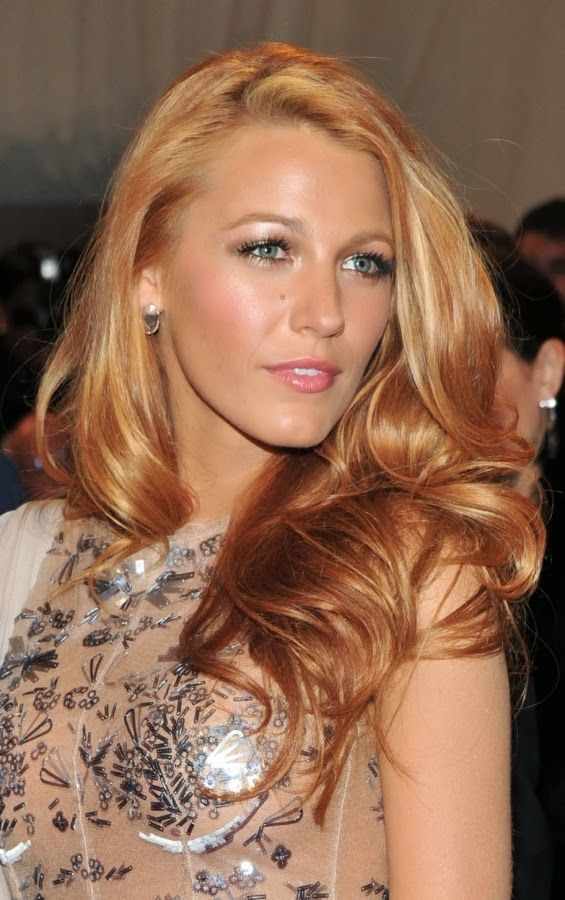 Beautiful strawberry blond shade hair.Strawberry-blond waves are spring/summer beauty . Generally considered one of our preferred hair colors ever