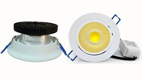 Lavtbyggende LED Downlights IP44