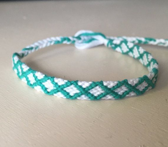 Friendship Bracelet Embroidery floss bracelet by SomethingGirly1