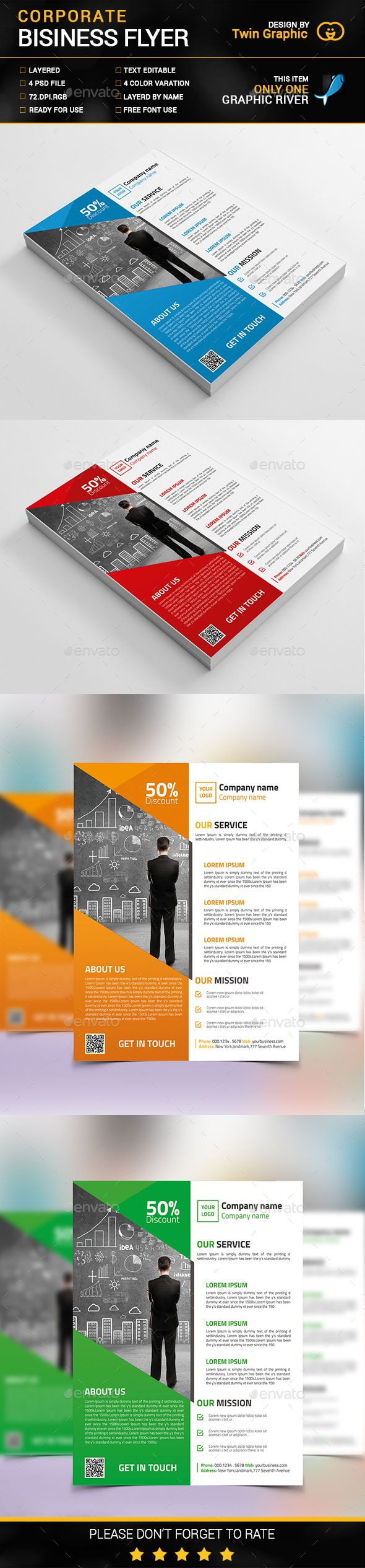 Corporate Business Flyer Design Template PSD. Download here: http://graphicriver.net/item/corporate-business-flyer-design/14959159?ref=ksioks
