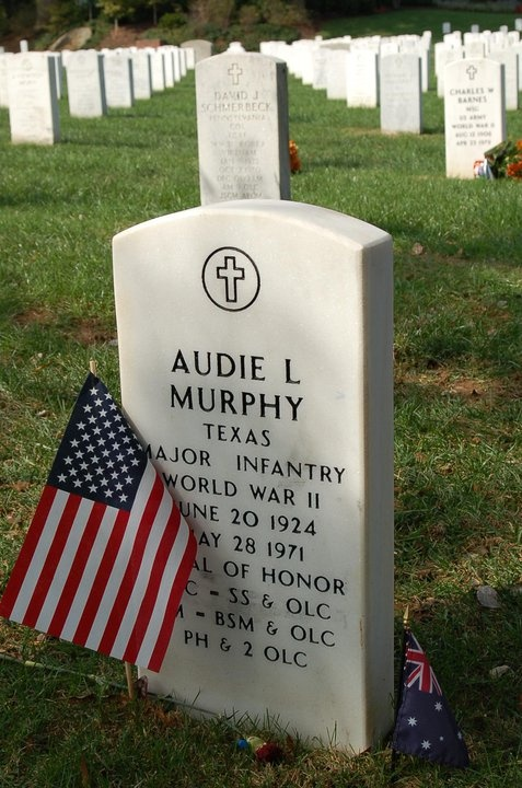 "Most decorated Veteran of WWII. If you haven't seen ""To Hell and Back: The story of Audie Murphy"" do it. Amazing what this kid did, and he played himself in the film."