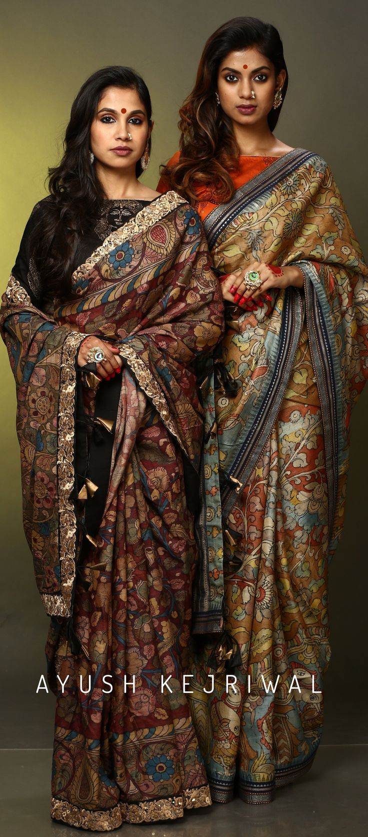 Hand painted Kalamkari Sarees by Ayush Kejriwal. For purchases email me at designerayushkejriwal@hotmail.com or what's app me on 00447840384707 We ship WORLDWIDE. Instagram - designerayushkejriwal