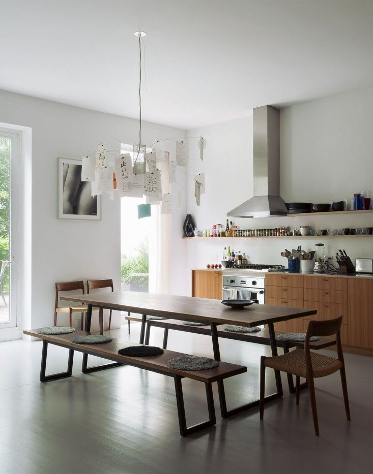 REALLY Like This Picnic Style Kitchen Table That Can Be Used For Kids Art Projects As Well Dinner Parties A Scandi In Brooklyn Remodelista