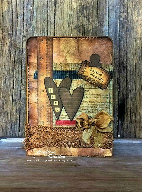 Handmade Greeting Card Love Beyond Measure by Crafting Emotion $16.75AUD