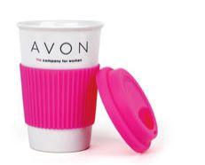 Új kedvencünk a kerámia utazóbögre! Ha forró italt töltesz bele, ne érj a kerámia részhez, csak a pink szilikon védő részhez!