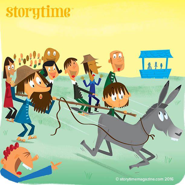 Donkey Do, Donkey Don't – a funny wonky donkey fable from Storytime 28! Art by Mike Moran. ~ STORYTIMEMAGAZINE.COM