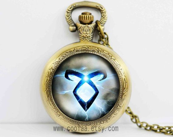 The Mortal Instruments Pocket Watch locket necklace City by coolaa, $8.99