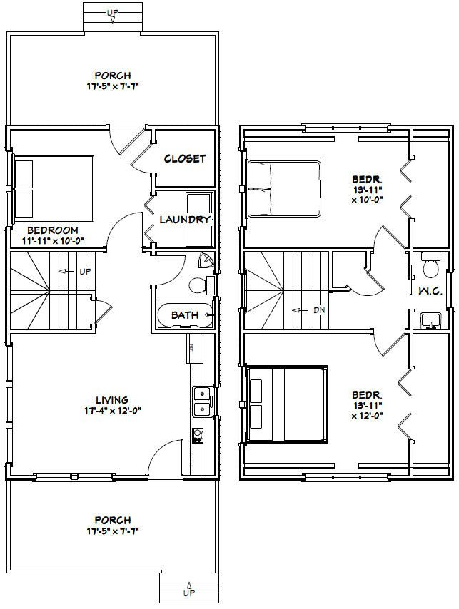 18x30 Tiny House     18X30H7I    999 sq ft   Excellent Floor Plans. 17 Best images about this one on Pinterest   Dream house plans