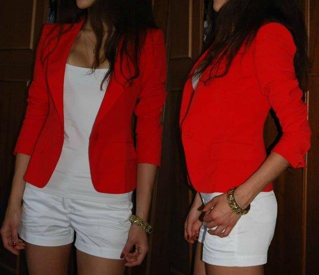 Красный пиджак цена