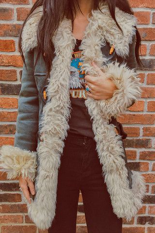 1970's Venus In Furs Turkish Shearling Penny Lane Dream Coat