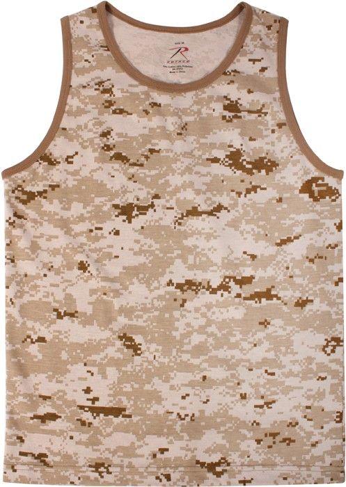 Desert Digital Camouflage Military Physical Training Tank Top | 8772 | $7.99