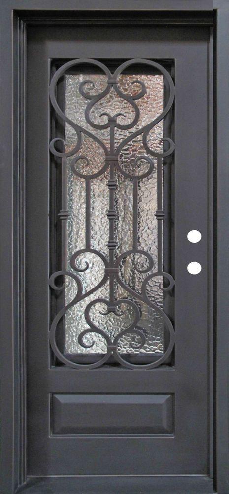 Single Wrought Iron Door, Doors W/ Oper-able Glass Panel FL-IRON7101S-IW02 in Home & Garden, Home Improvement, Building & Hardware | eBay