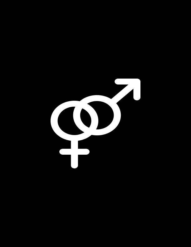 Male Female Gender Symbolheterosexual Symbolmale And Female Decal