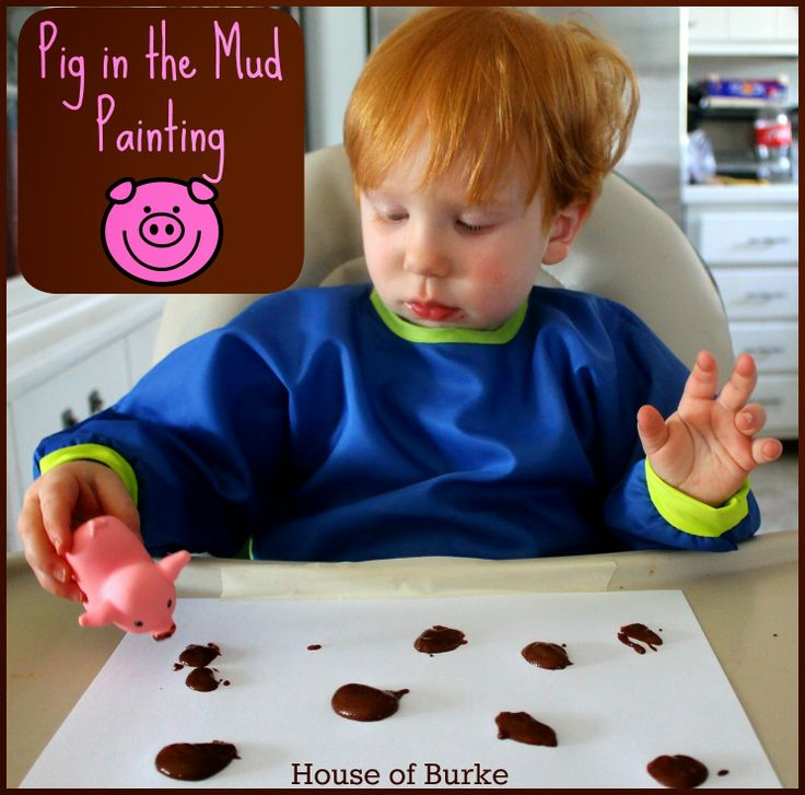 Pig in the Mud Painting - Toddler Farm Theme - House of Burke