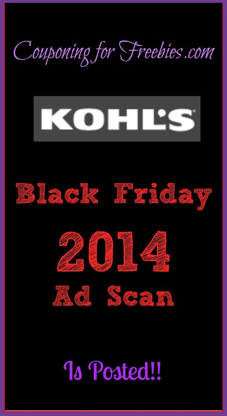 Kohl's Black Friday Ad Scan 2014 - http://couponingforfreebies.com/kohls-black-friday-ad-scan-2014/