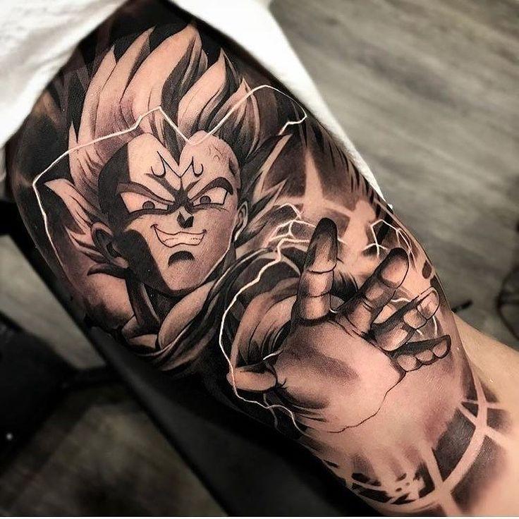 """""""Morra inseto"""" por @matiasnobletattoo #Art #Artist #Inked #Tattoo #Tattooartist #Tattooed #vegeta #dragonballztattoo"""