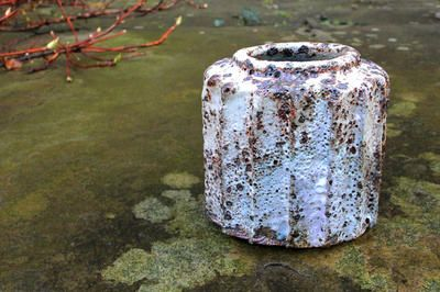 Grey/Blue Oval Jar. Hans Vangso