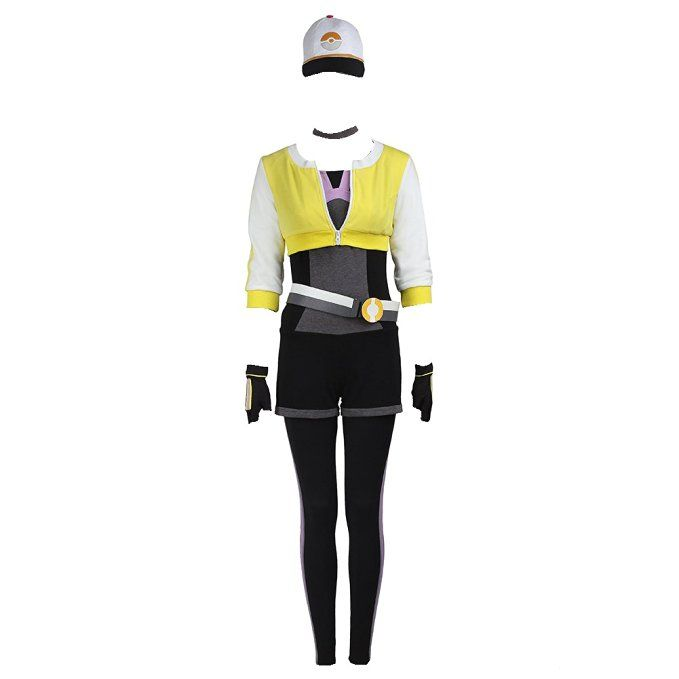 Manles Women's Pokemon Go Cosplay Costume Teams Trainer Yellow Suit Small