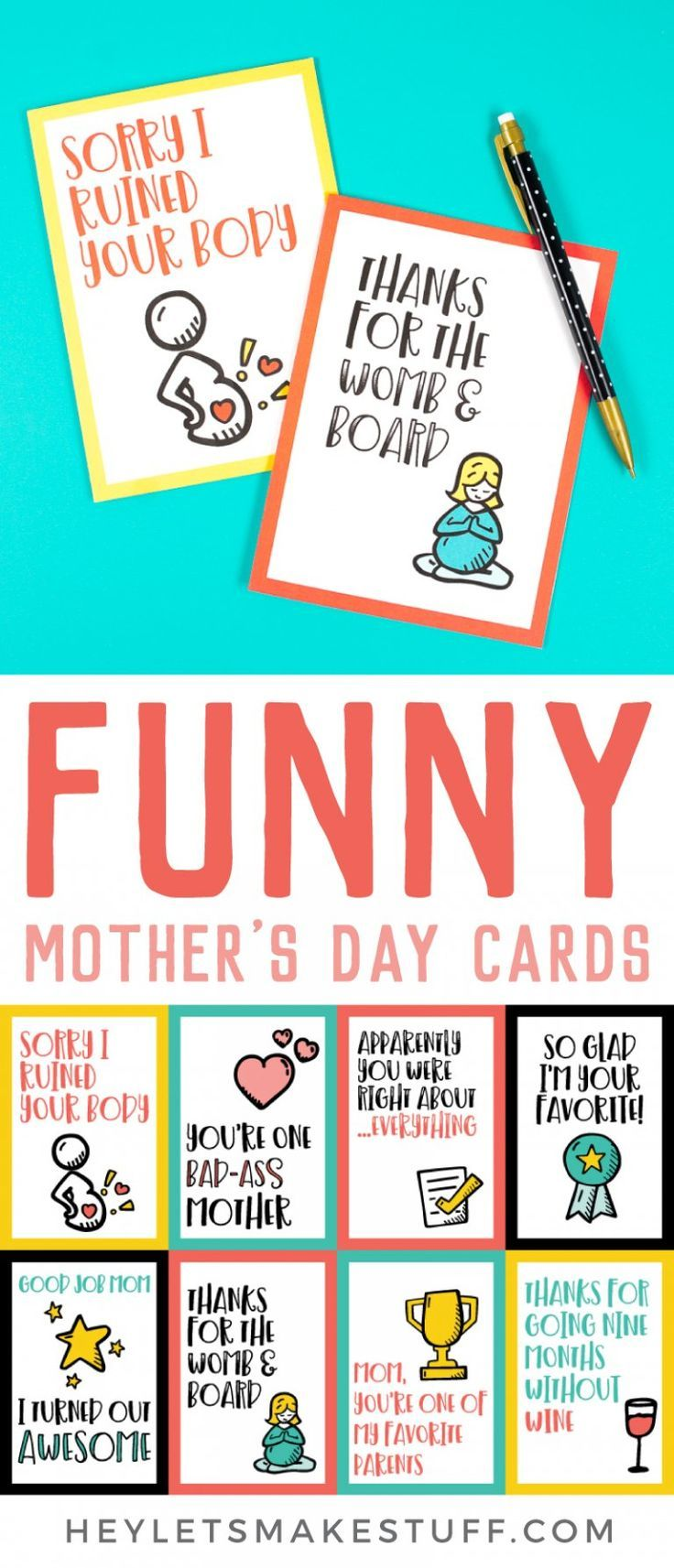 image about Printable Funny Mothers Day Cards named Printable Humorous Moms Working day Playing cards Vacations - Moms Working day