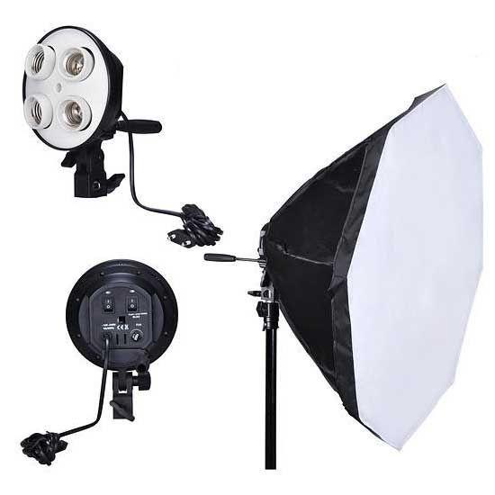 Осветитель NiceFoto G804C-2 с октобоксом 65 см и патроном под 4 лампы