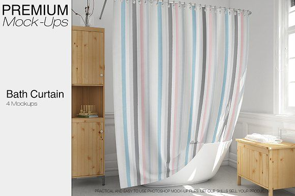 Bath Curtain Mockup Pack Mockup Mockup Free Psd Psd Mockup Template