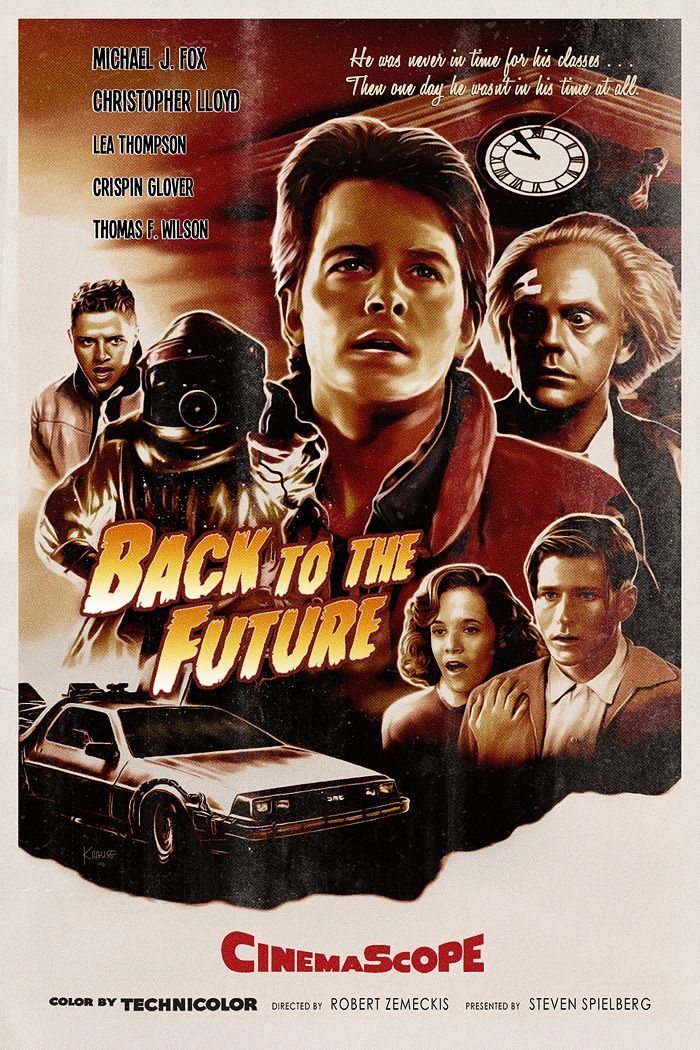 Back to the Future by Ralf Krause - Home of the Alternative Movie Poster -AMP-