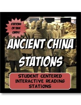 This content rich activity is student centered and interactive.The activity has 8 stations detailing the geography, achievements, social classes, leadership, economy and religion of Ancient China. Students travel though the Zhou, Shang, Qin and Han dynasties!Readings come with pictures, charts and maps.