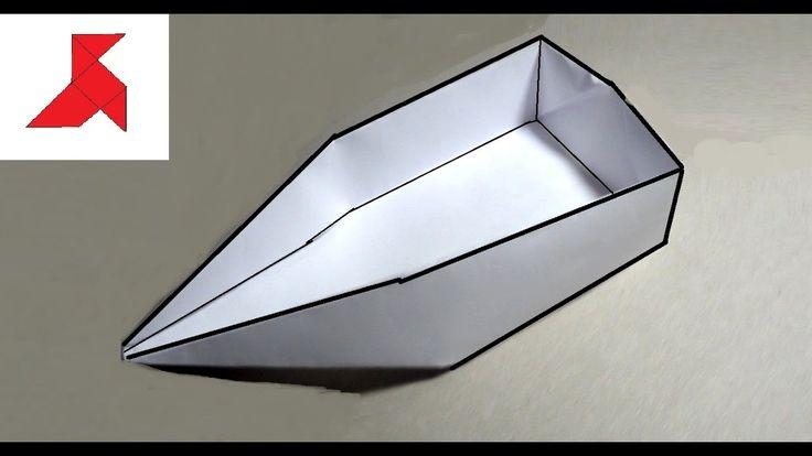 Оригами лодка плоскодонка из бумаги А4…