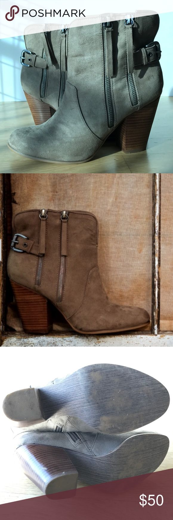 """Carlos by Carlos Santana boots Carlos by Carlos Santana boots. 6"""" tall shaft and 3.5"""" heel in brown. Worn a handful of times in great condition. Carlos Santana Shoes Ankle Boots & Booties"""