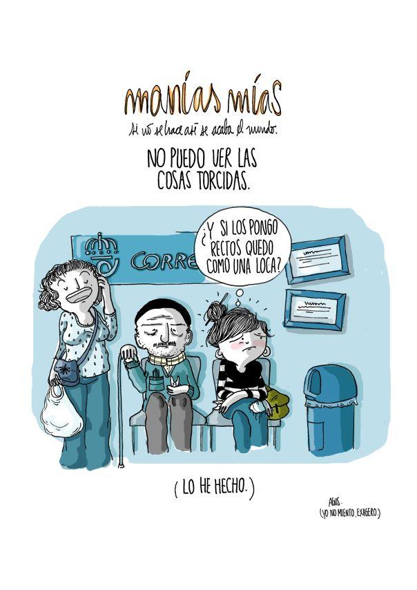 """B1/C2 - ¿Tienes alguna manía? Yo sí: No puedo dormir con las puertas del armario abiertas. [Diario de una volátil"""" by Agustina Guerrero.]"""