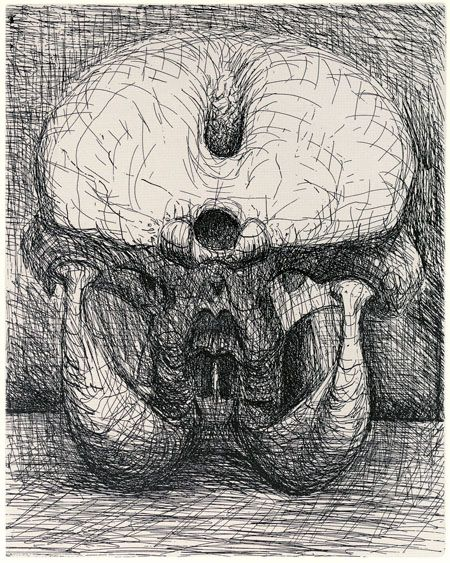Henry Moore, Perry Green - Henry Moore: Elephant Skull etchings