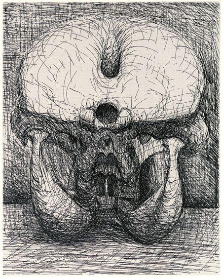 Henry Moore, Perry Green - Henry Moore: Elephant Skull etchings