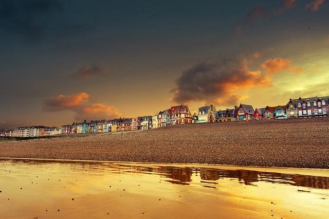 Golden sunrise at Mer Les Bains by David Keochkerian