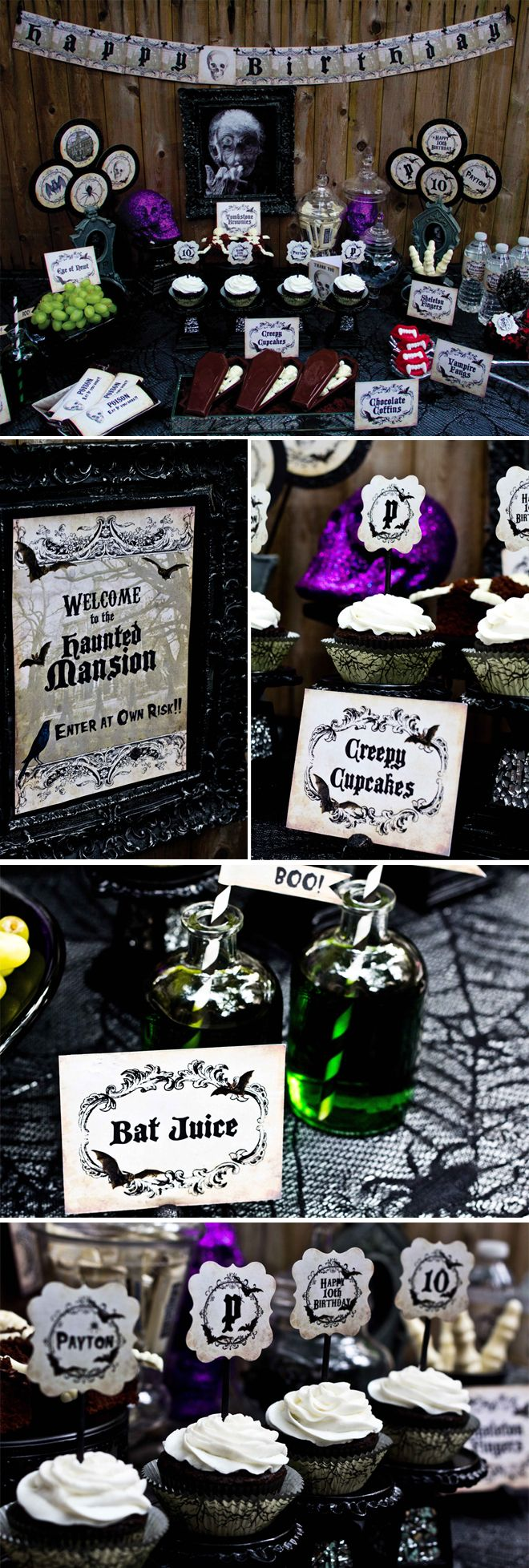 """Cute Spooky Halloween Party. I know it says """"Happy Birthday"""" but better as Halloween"""