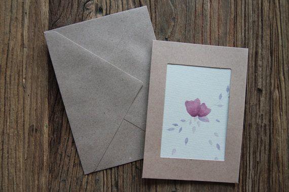Greeting card, cute birthday card, watercolour print, botanical print, greeting cards blank, greeting cards handmade, watercolour flower