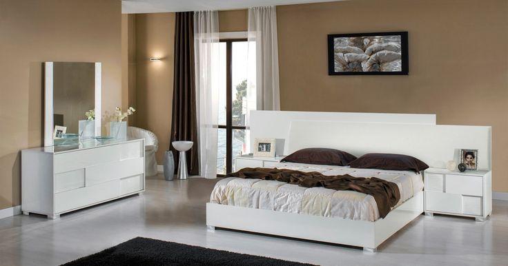 VIG Modrest Monza Italian Modern White Queen Bedroom Set VGACMONZA-SET