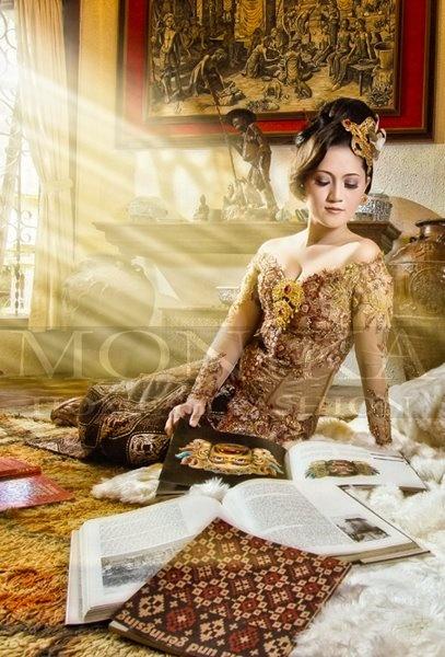 Wedding kebaya from fashion designer Monika Weber, Denpasar, Bali....
