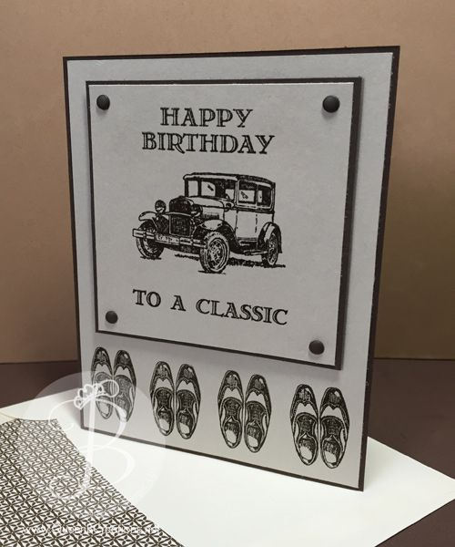 A Co Worker Had Birthday Last Week And I Found Myself In Need Of Masculine Card Reached For My Stampin Up Guy Greetings Stamp Set Came